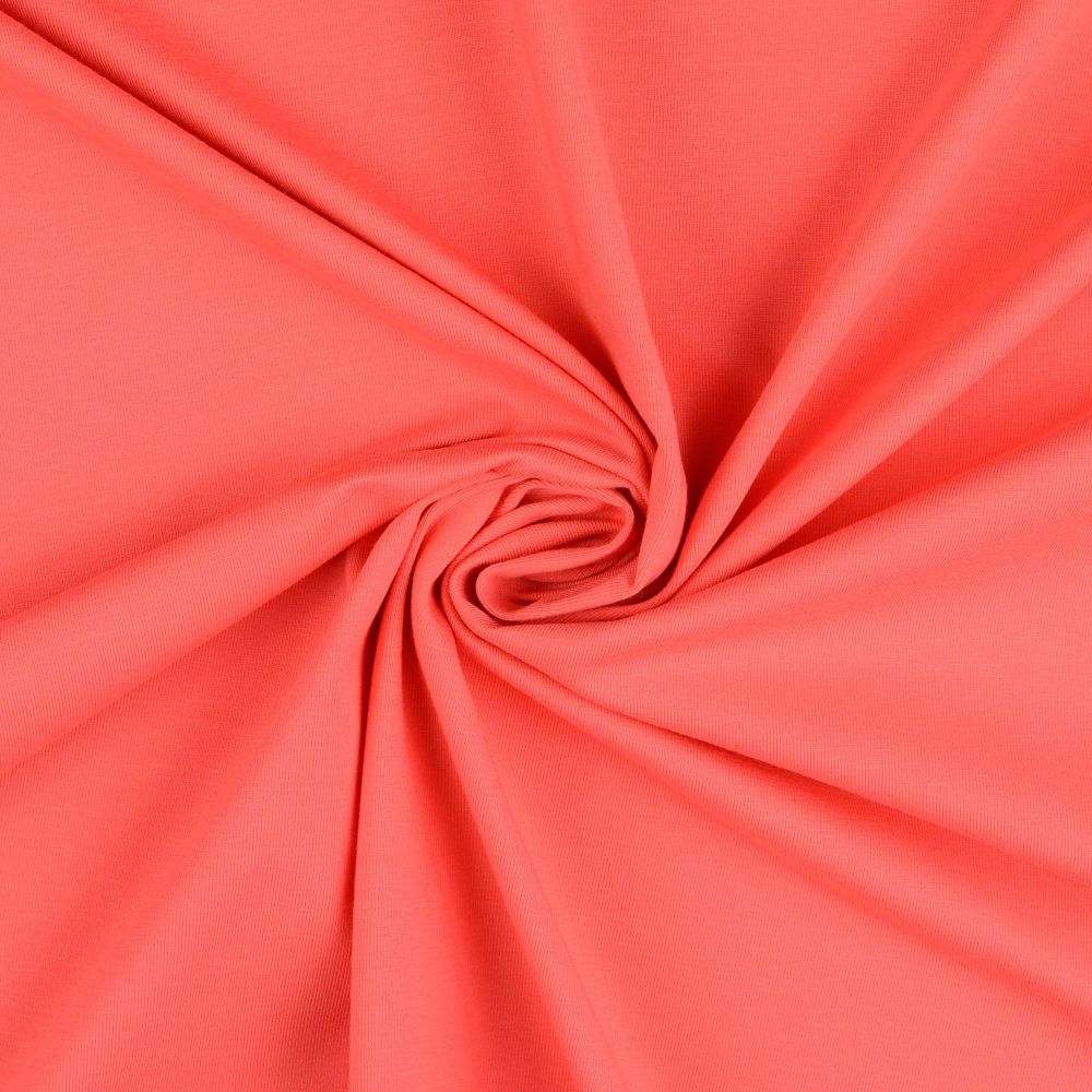 Cotton Jersey Fabric Coral