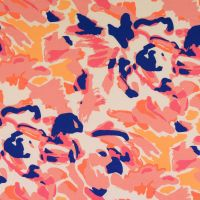 Cotton Jersey Fabric Coral Mix