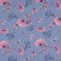 French Terry Fabric Dragonflies