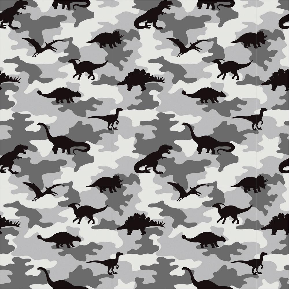 Cotton Fabric Camouflage Dino