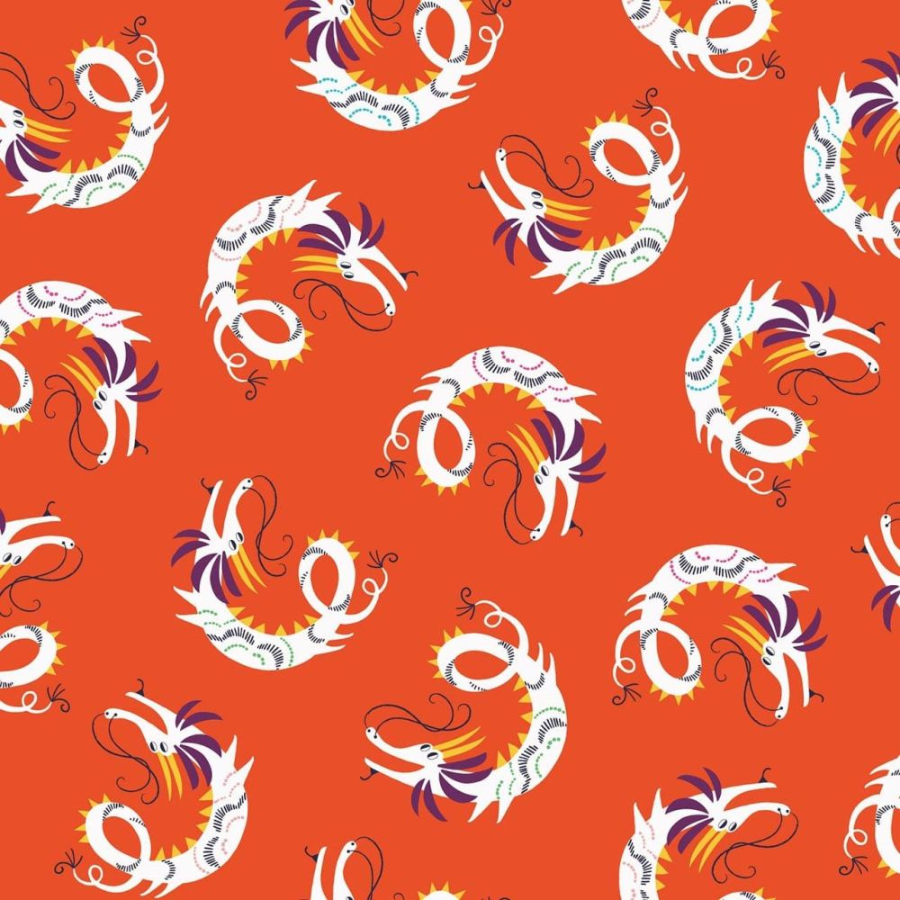 Dashwood Studio Cotton Fabric Silk Road Dragons
