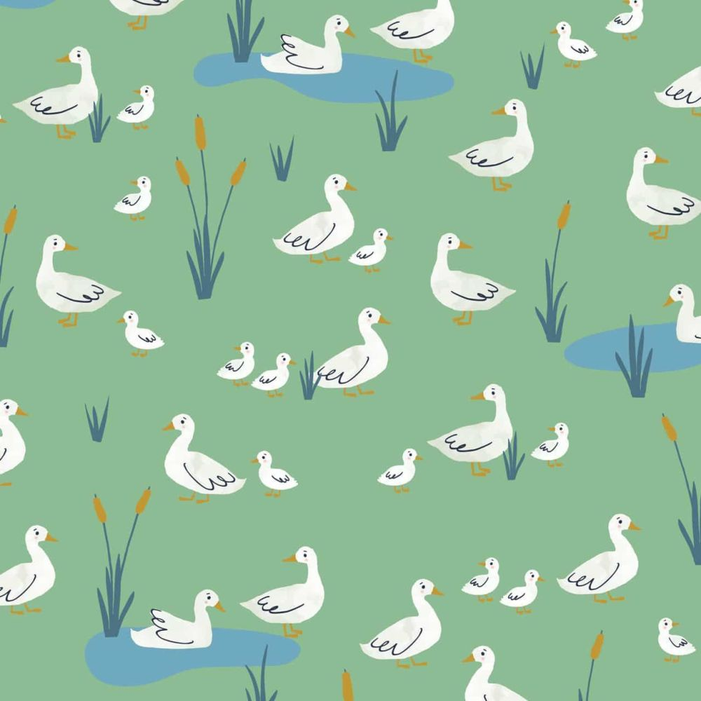 Dashwood Studio Cotton Fabric Farm Days Ducks