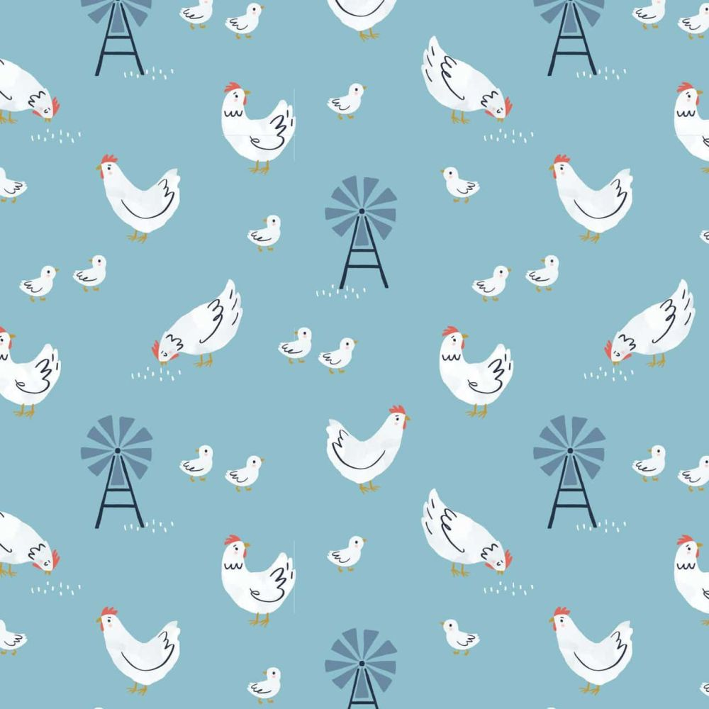 Dashwood Studio Cotton Fabric Farm Days Chickens