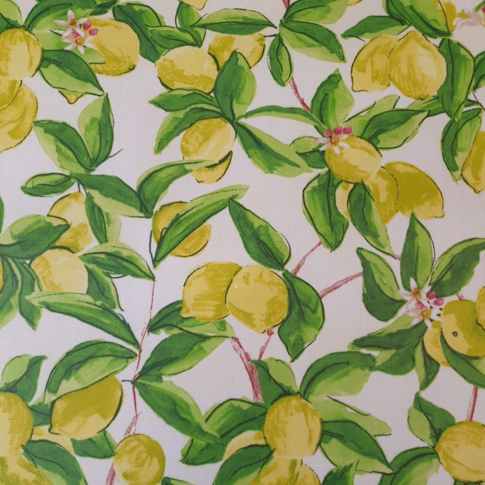 Upholstery Cotton Canvas Fabric Sorrento Lemons