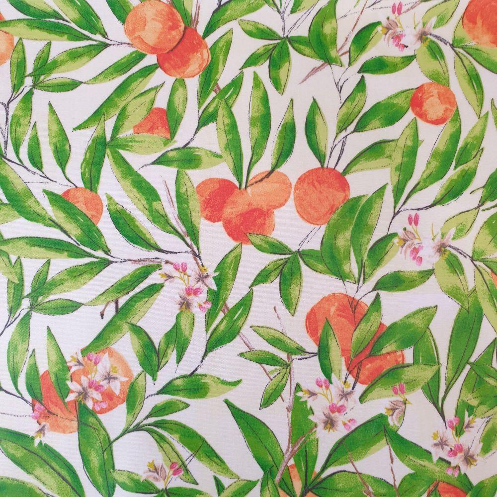 Upholstery Cotton Canvas Fabric Seville Orange