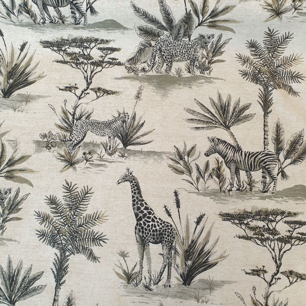 Upholstery Cotton Linen Mix Fabric Safari Natural