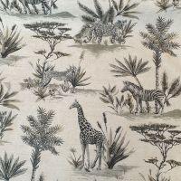 Upholstery Cotton Linen Mix Fabric Safari Natural