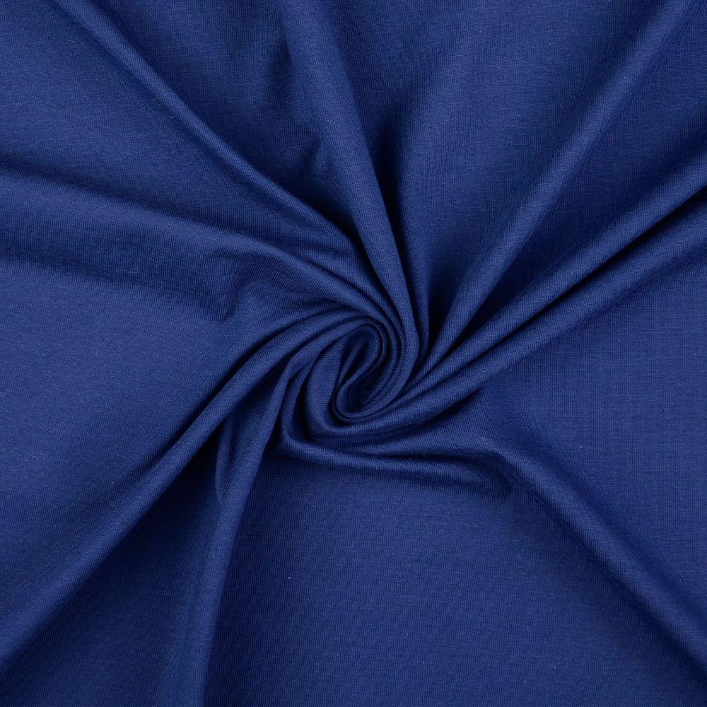 Cotton Jersey Fabric Navy