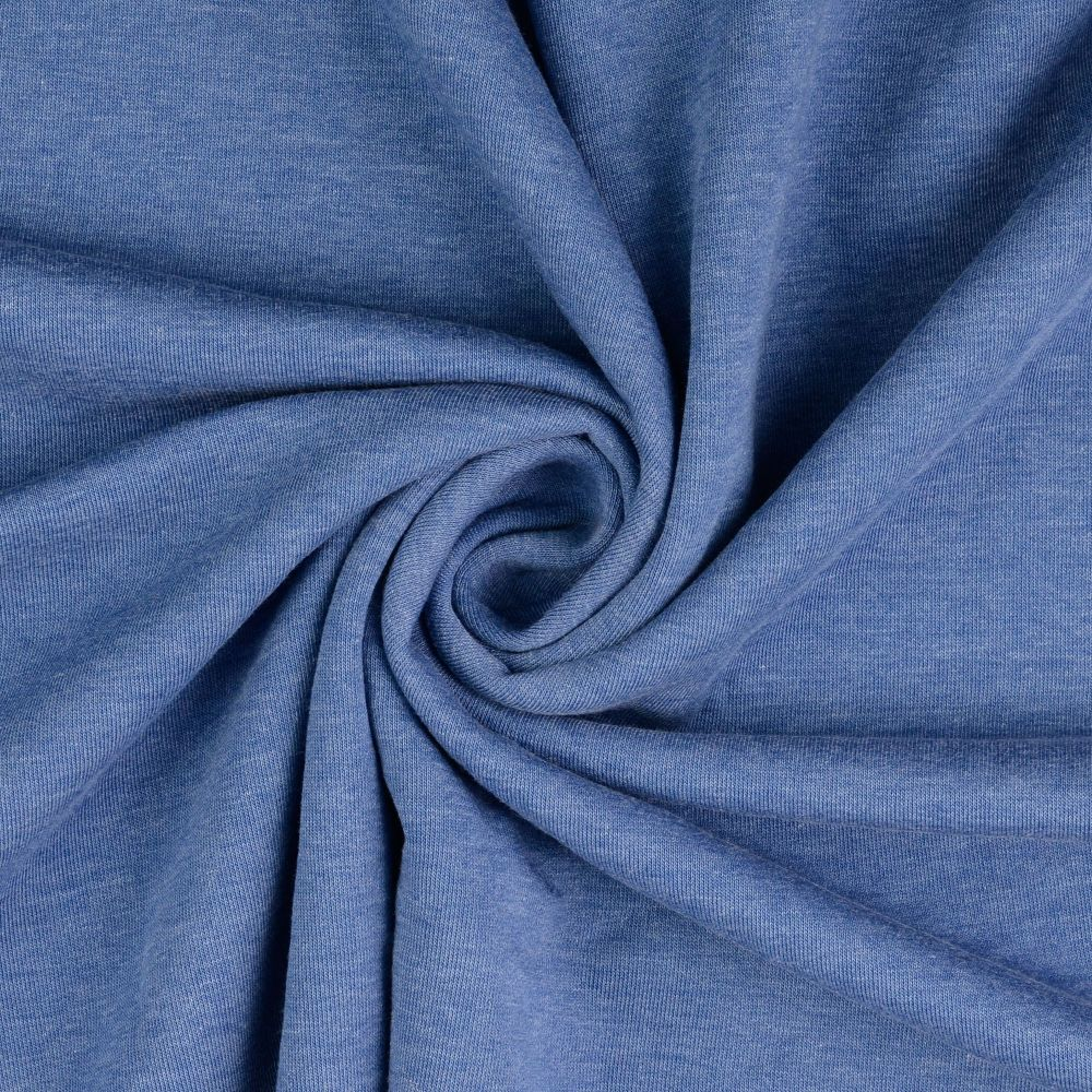 Sweatshirt Melange Fabric Denim