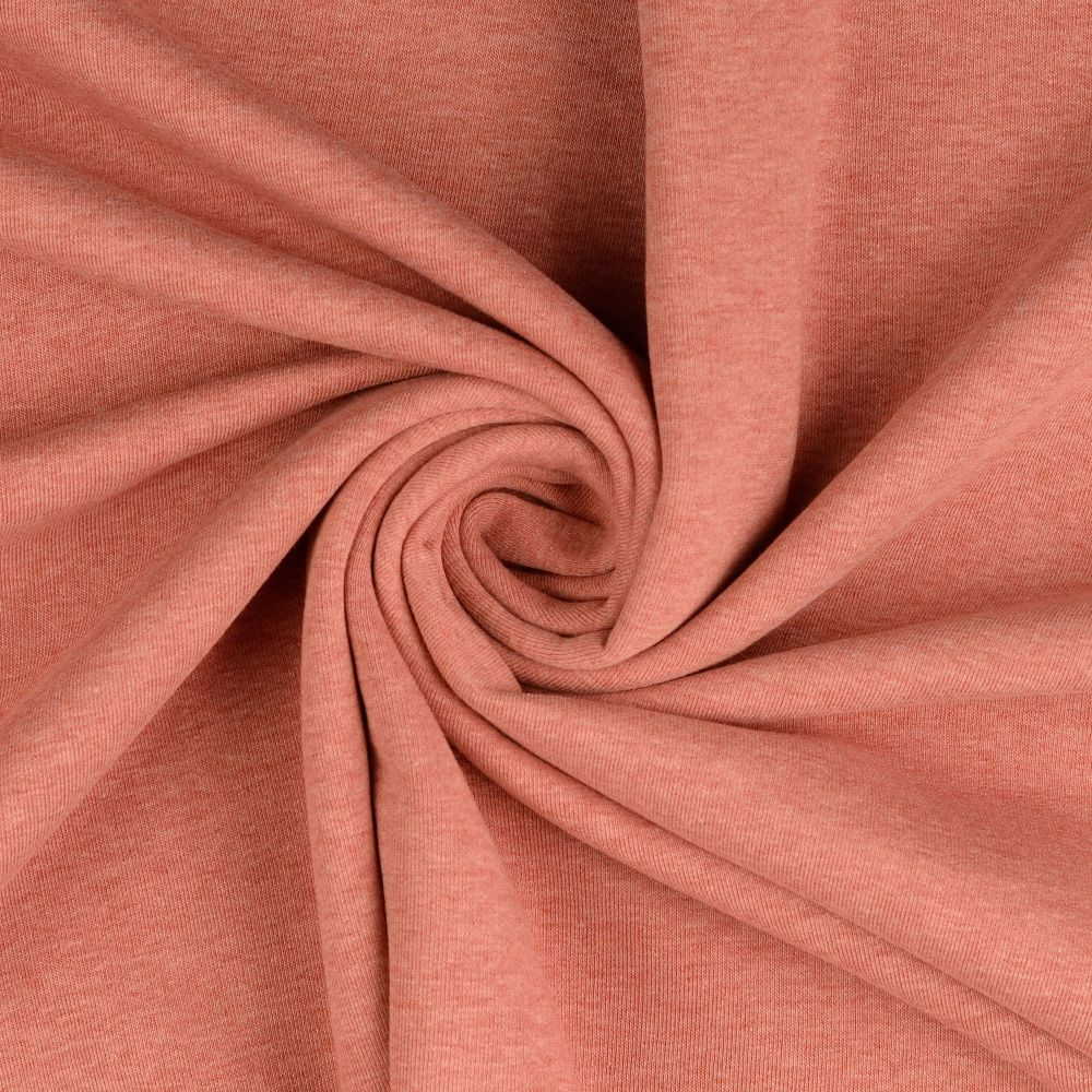 Sweatshirt Melange Fabric Rose