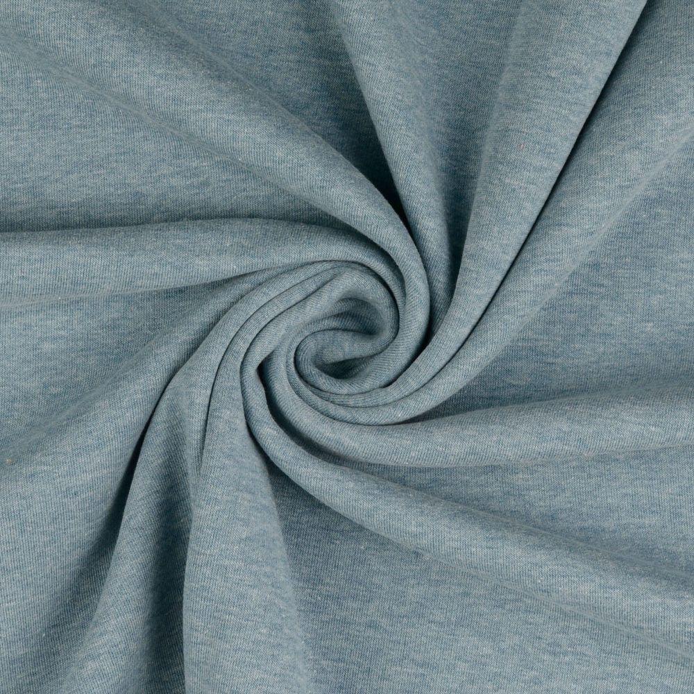 Sweatshirt Melange Fabric Light Teal