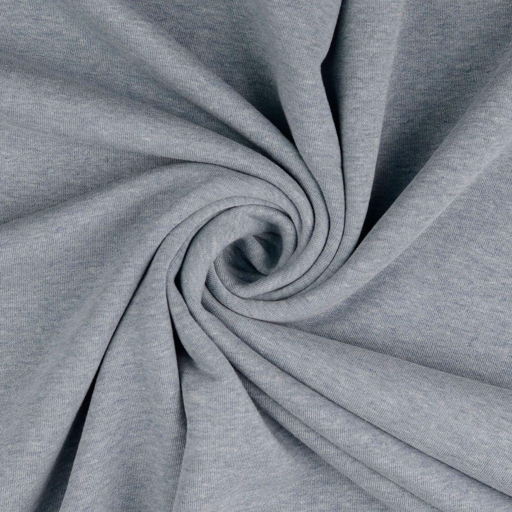 Sweatshirt Melange Fabric Pale Light Denim