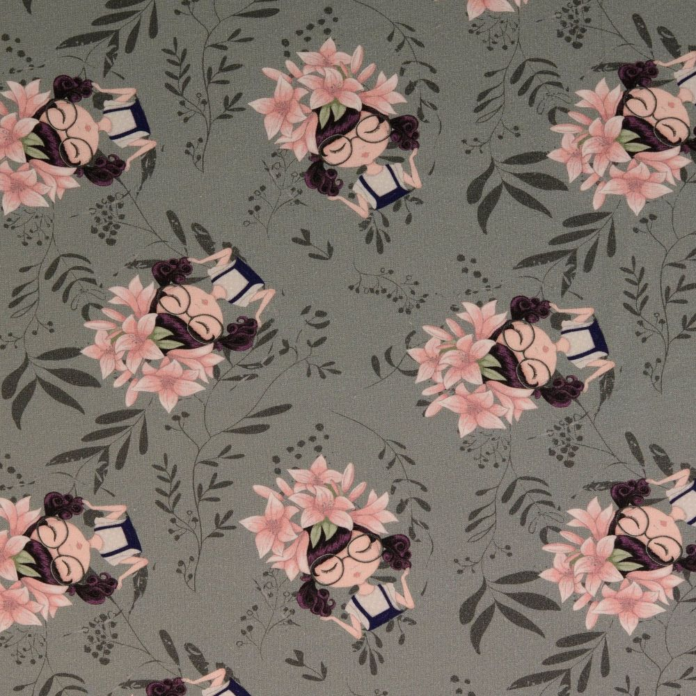 French Terry Fabric Flower Girl