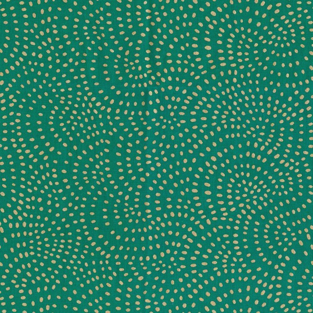 Dashwood Studio Cotton Fabric Twist Gold Metallic Green
