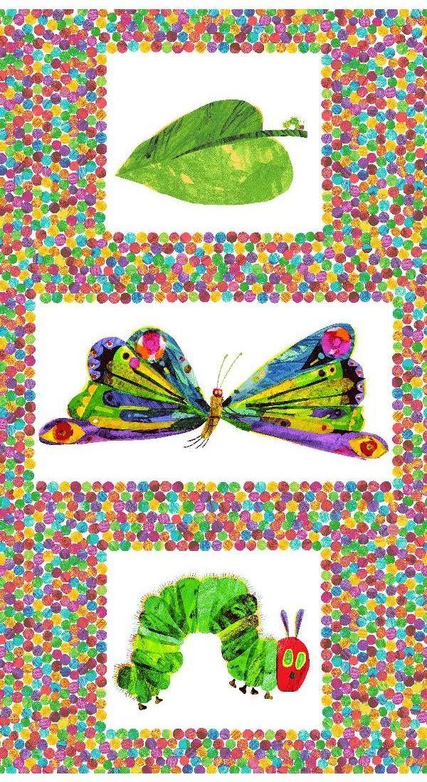 Makower Cotton Fabric Very Hungry Caterpillar Panel