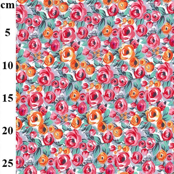 Cotton Poplin Fabric Summer Florals