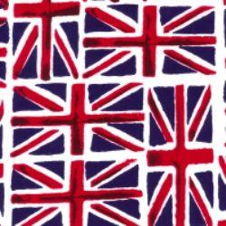 Union Jack Flag Cotton Fabric