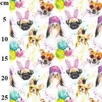 Cotton Fabric Funky Dogs