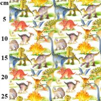 Cotton Fabric Dinosaurs