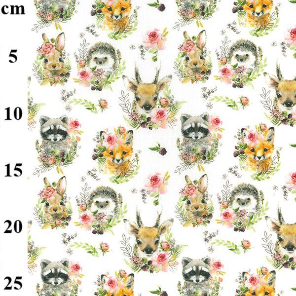 Cotton Fabric Forest Animals