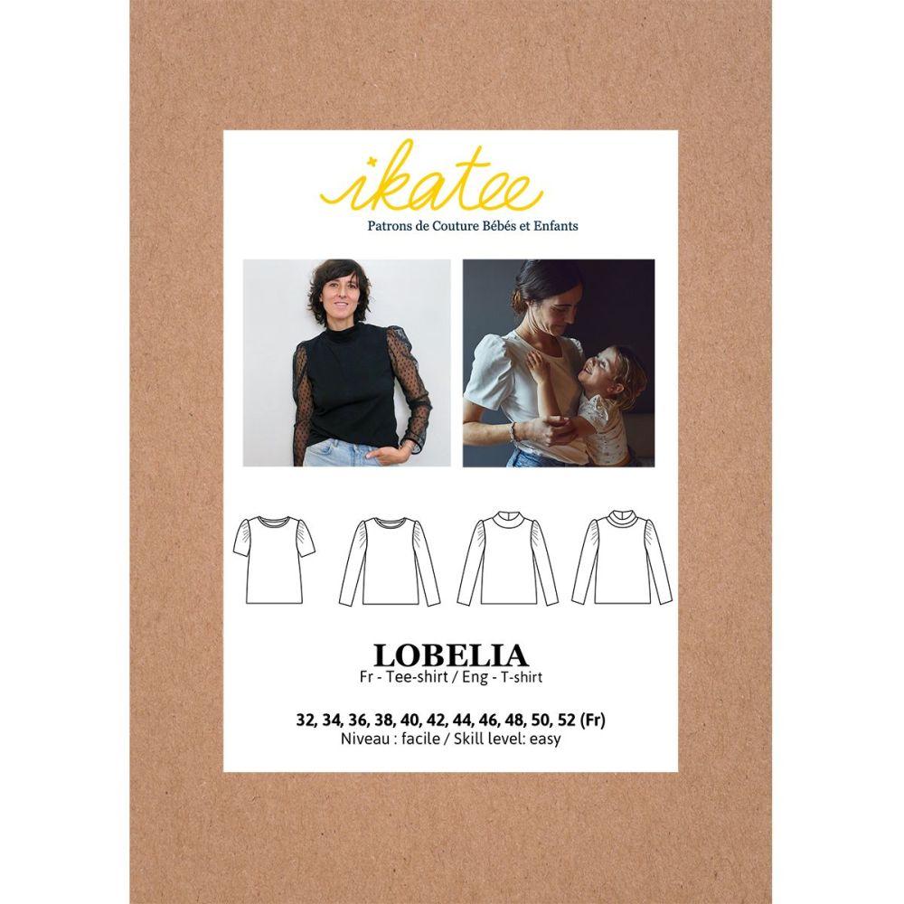 Ikatee Sewing Pattern Adults Lobelia Mum Tee Shirt