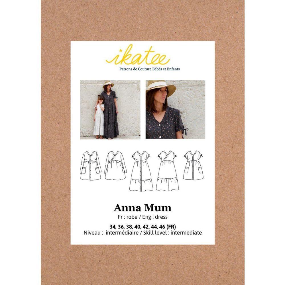 Ikatee Sewing Pattern Adults Anna Mum Dress