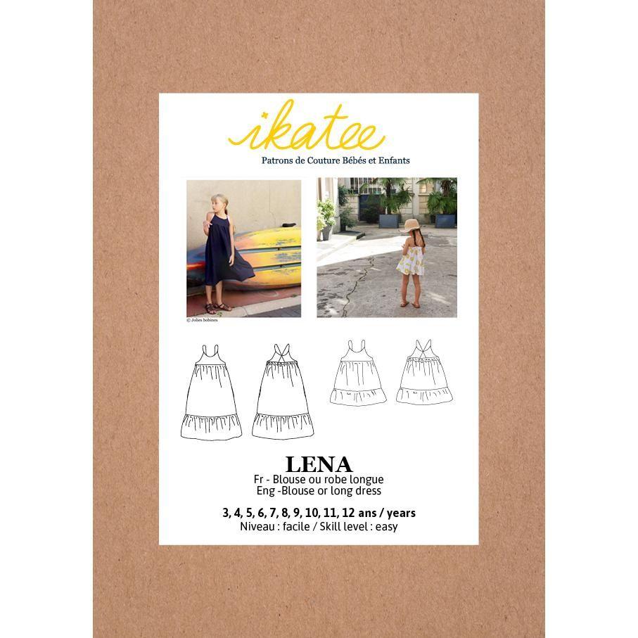 Ikatee Sewing Pattern Girls 3/12Y Lena Blouse & Dress