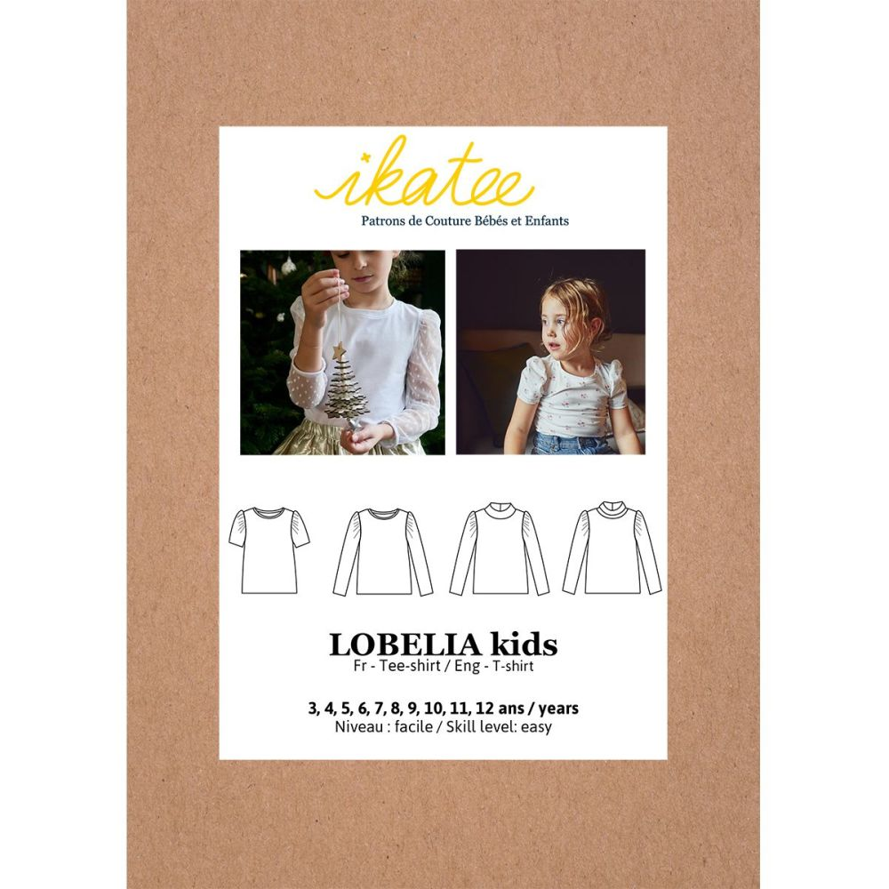 Ikatee Sewing Pattern Girls 3/12Y Lobelia Tee-Shirt