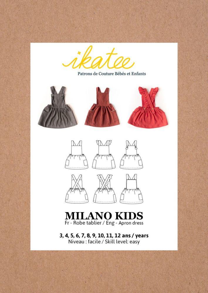 Ikatee Sewing Pattern Girls 3/12Y Milano Dress