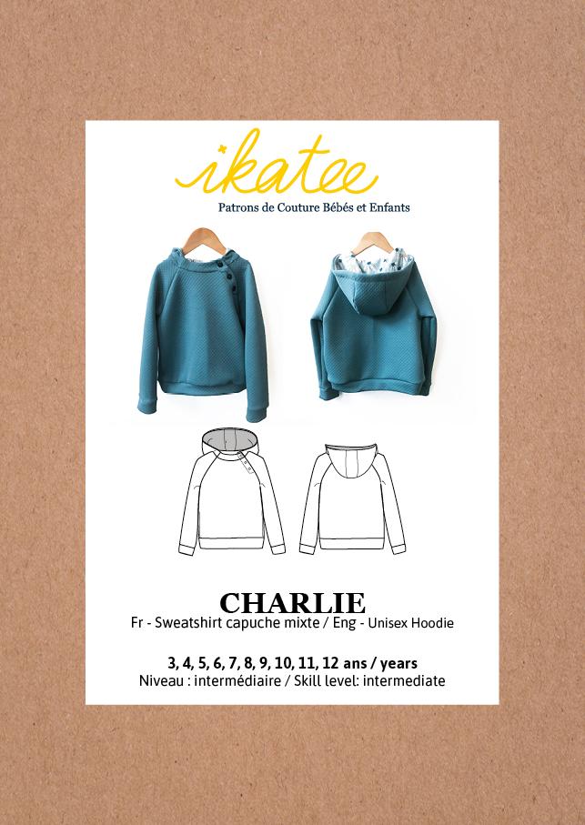 Ikatee Sewing Pattern Unisex 3/12Y Charlie Hoody