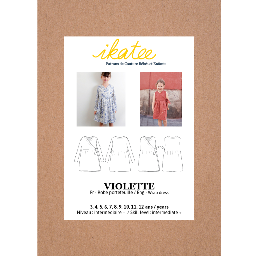 Ikatee Sewing Pattern Girls 3/12Y Violette Dress
