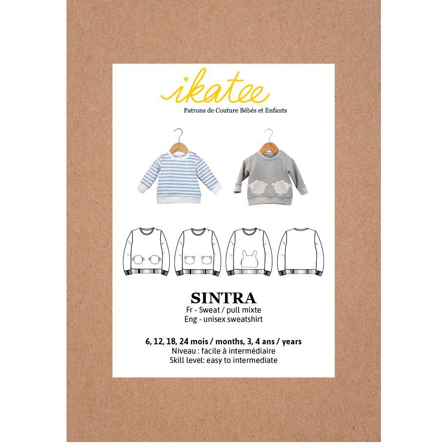 Ikatee Sewing Pattern Baby 6M/4Y Sintra Sweatshirt