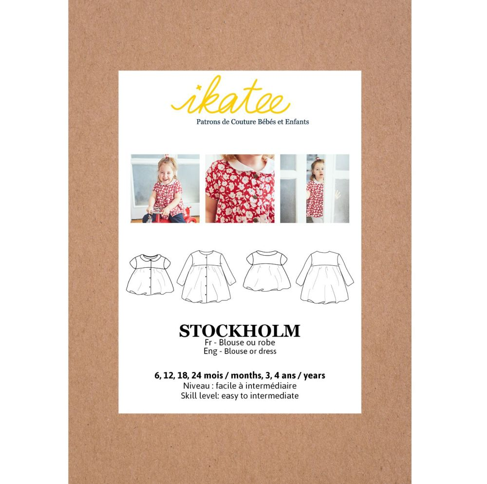 Ikatee Sewing Pattern Baby 6M/4Y Stockholm Blouse & Dress