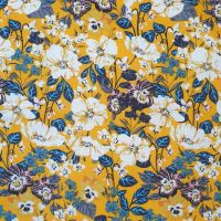 Cotton Lawn Tropical Floral Mustard