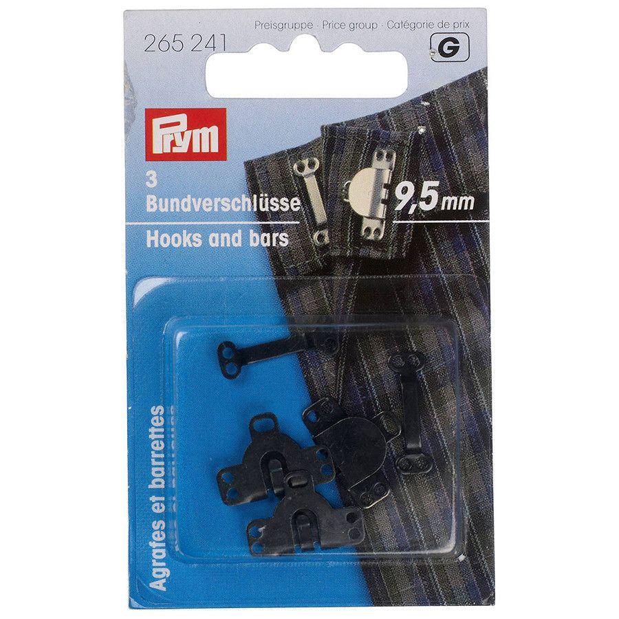 Prym Hook & Bar 9.5mm Black
