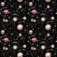 Cotton Fabric Galaxy Black