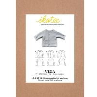 Ikatee Sewing Pattern Baby Newborn to 4Y Vega Fleece / Cardigan