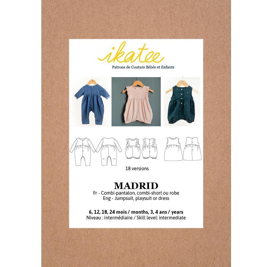 Ikatee Sewing Pattern Baby 6M/4Y Madrid Jumpsuit/Playsuit