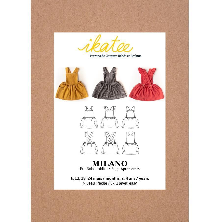 Ikatee Sewing Pattern Baby 6M/4Y Milano Dress