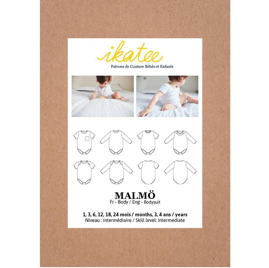 Ikatee Sewing Pattern Baby 6M/4Y Malmo Bodysuit/Vest