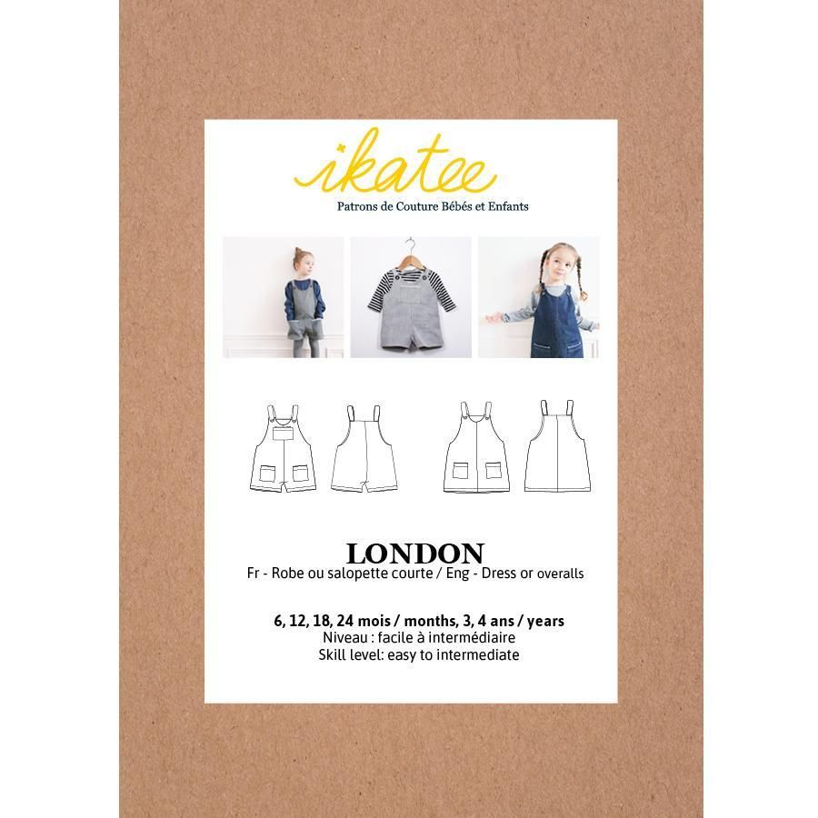Ikatee Sewing Pattern Baby 6M/4Y London Overalls Or Dress