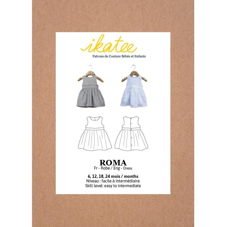 Ikatee Sewing Pattern Baby 6M/4Y Roma Dress