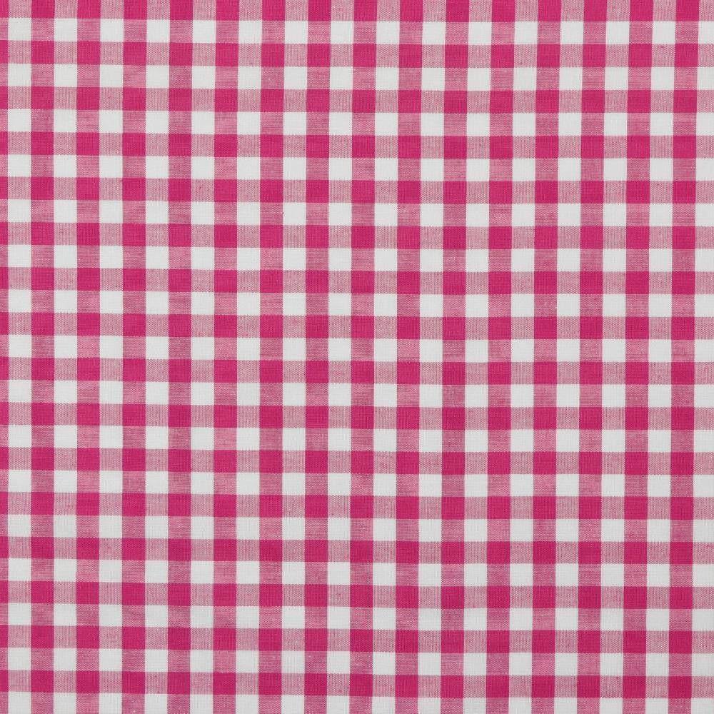 Cotton Fabric Gingham Fuchsia