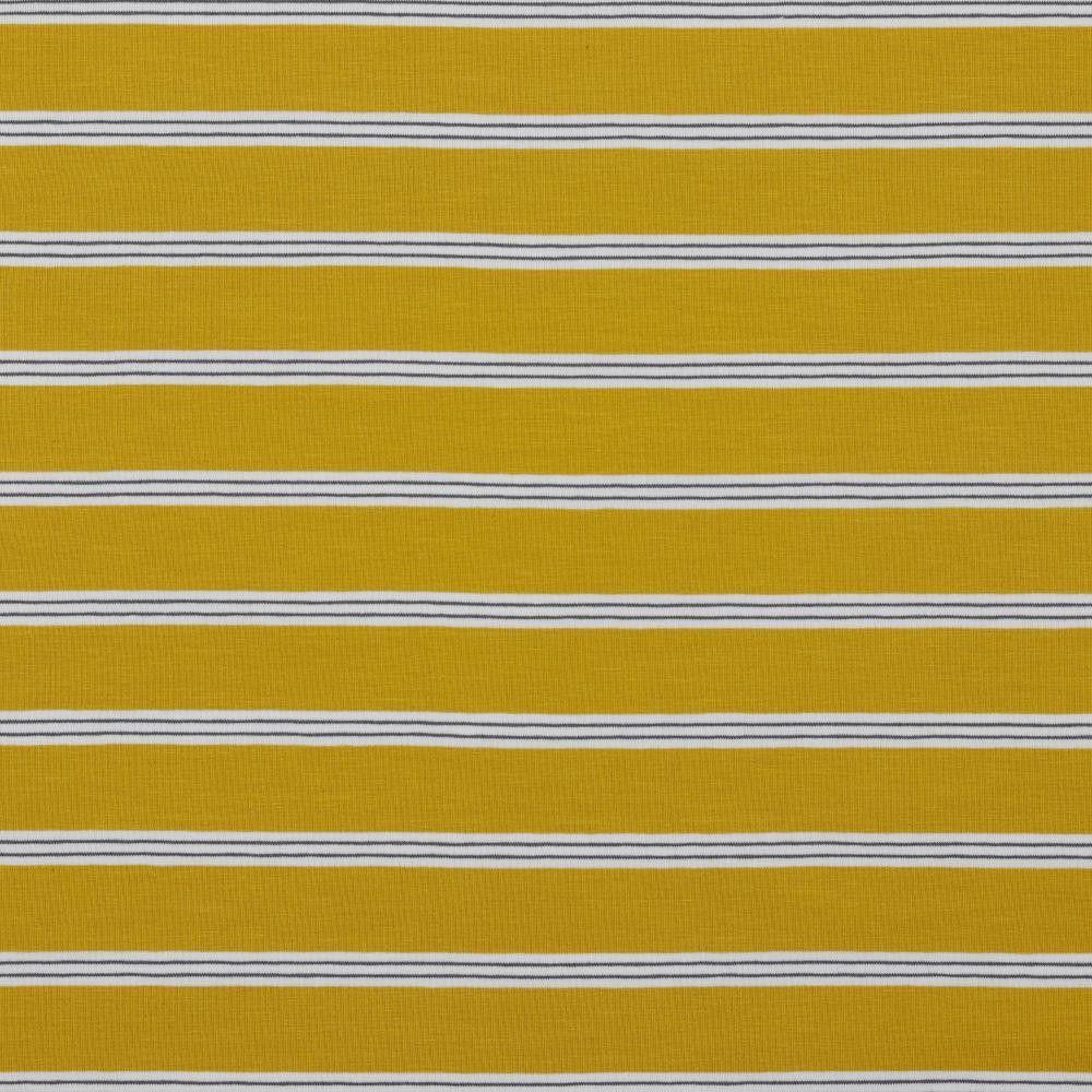 Cotton Jersey Fabric Pin Stripe Ochre