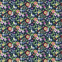 Dashwood Studio Cotton Lawn Kaleidoscope Ace Retro Floral Navy