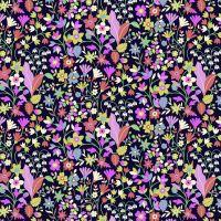 Dashwood Studio Cotton Lawn Kaleidoscope Ace Flowers Black
