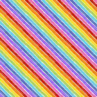 Makower Cotton Fabric VHC In The Garden Rainbow Bias White