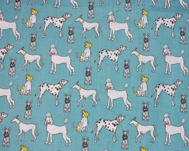Polycotton Fabric Poodles