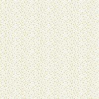 Makower Cotton Fabric Essentials Star Gold On White
