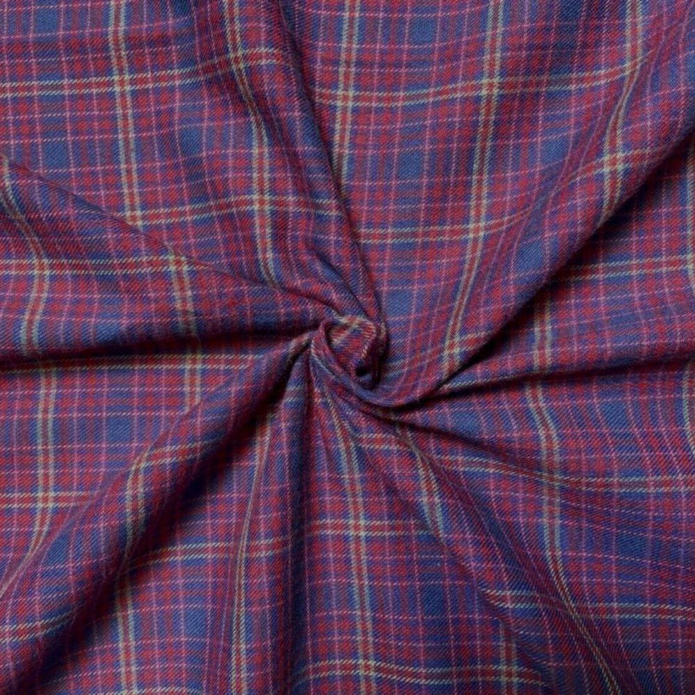 Brush Cotton Tartan Red